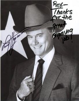 Larry Hagman autograph
