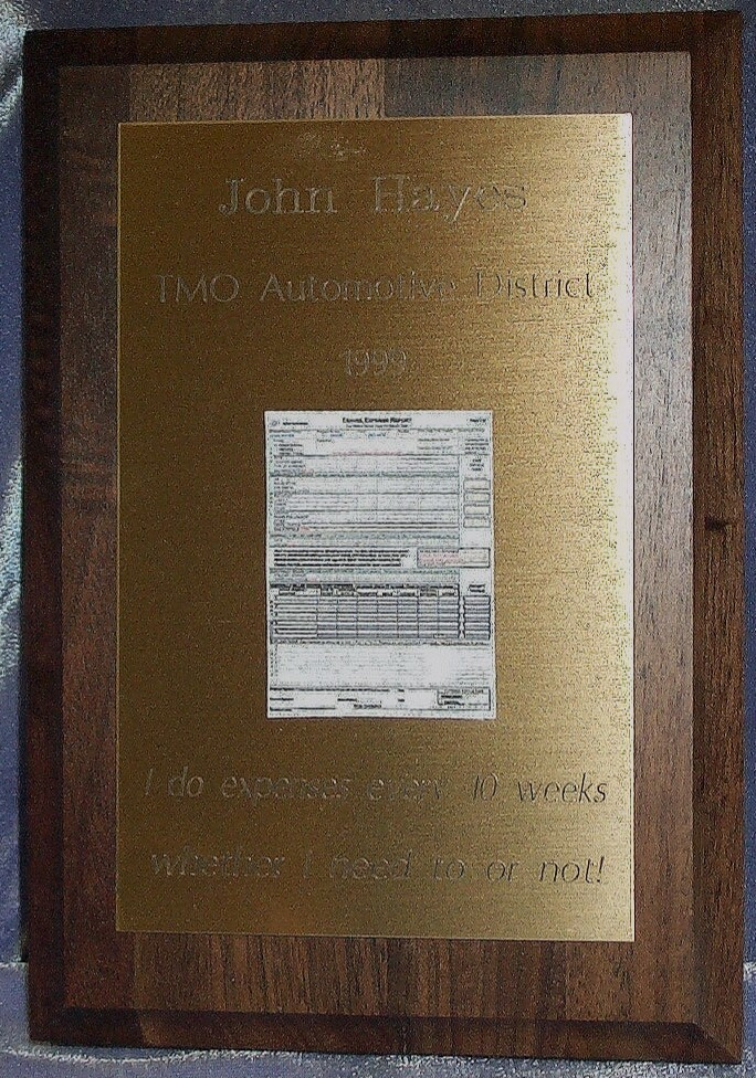 Expenses Plaque