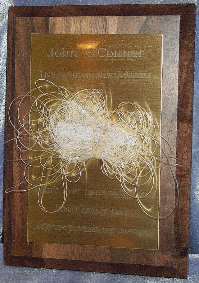Fishing Line Plaque