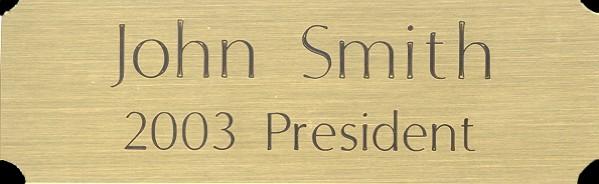 Small Brass Plate