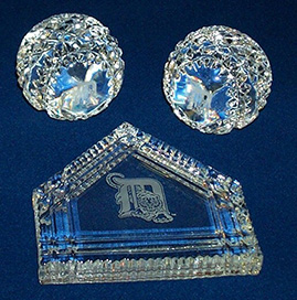 Crystal baseballs and homeplate